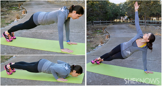 Pushup to side plank