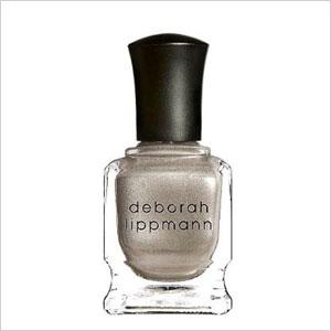 Subtle silver nail polish
