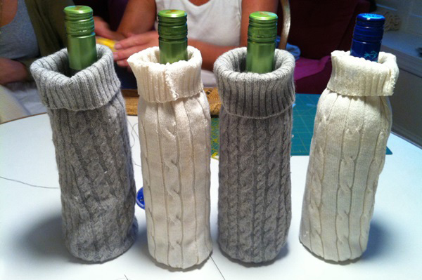 sweater wine bags