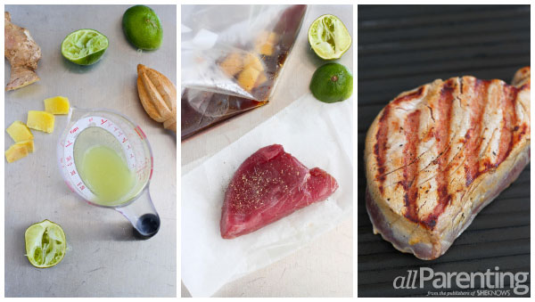 allParenting Soy-marinated grilled tuna prep collage
