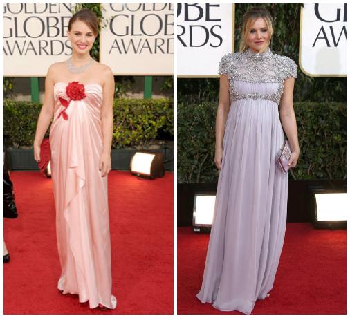 Golden Globes- Natalie Portman and Kristen Bell