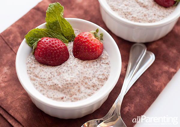 allParenting Chocolate chia pudding