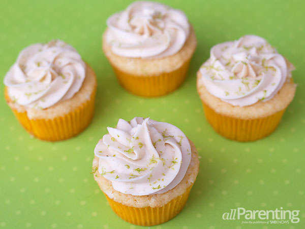 allParenting Margarita cupcakes with tequila lime icing