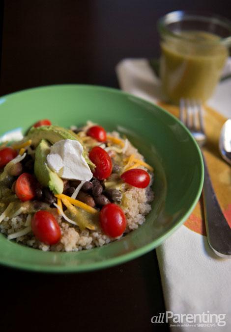allParenting Quinoa burrito bowl