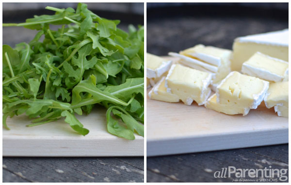arugula and sliced Brie