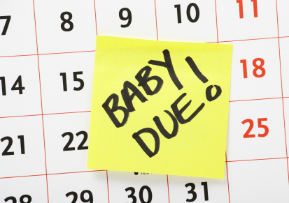 calendar with baby's due date