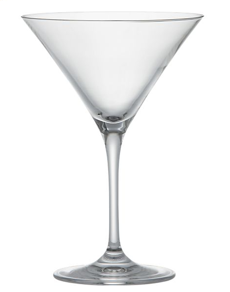 Crate and Barrel cocktail glasses