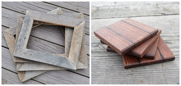 Etsy reclaimed wood decor-frames and coasters - Best Reclaimed Wood Decor On Etsy