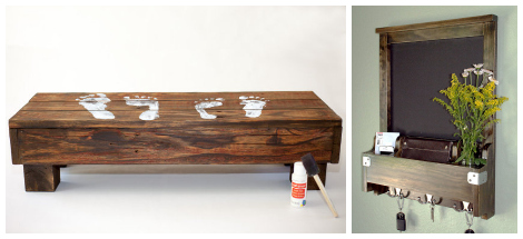 Etsy reclaimed wood decor- step stool hallway organizer - Best Reclaimed Wood Decor On Etsy