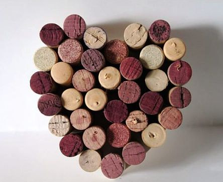 Wine Cork Heart Wall Hanging