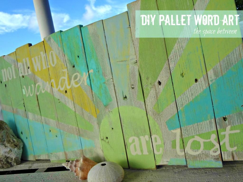 Pallet art: The Space Between