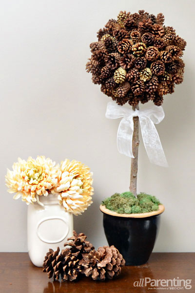 allParenting pine cone topiary