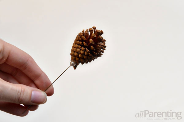 allParenting pine cone topiary step 3