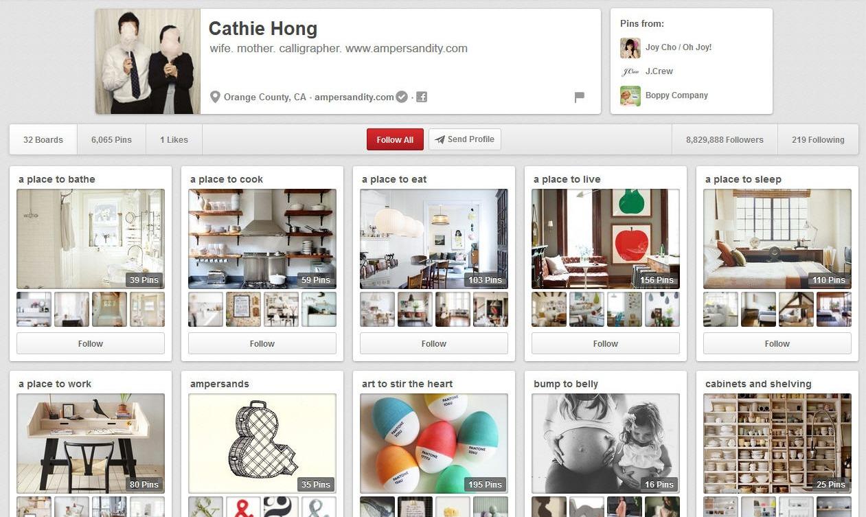 Pinterest boards- Cathie Hong