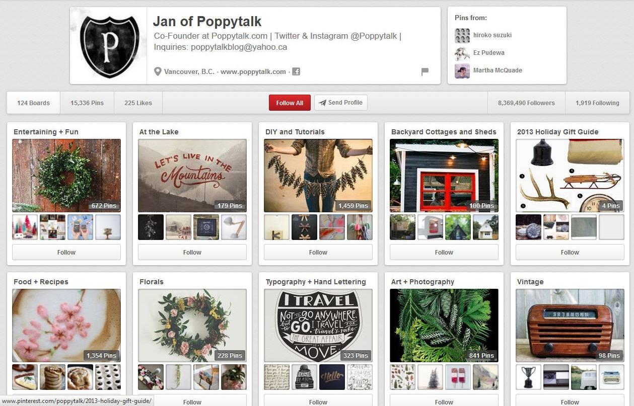 Pinterest Moms- Jan of Poppytalk