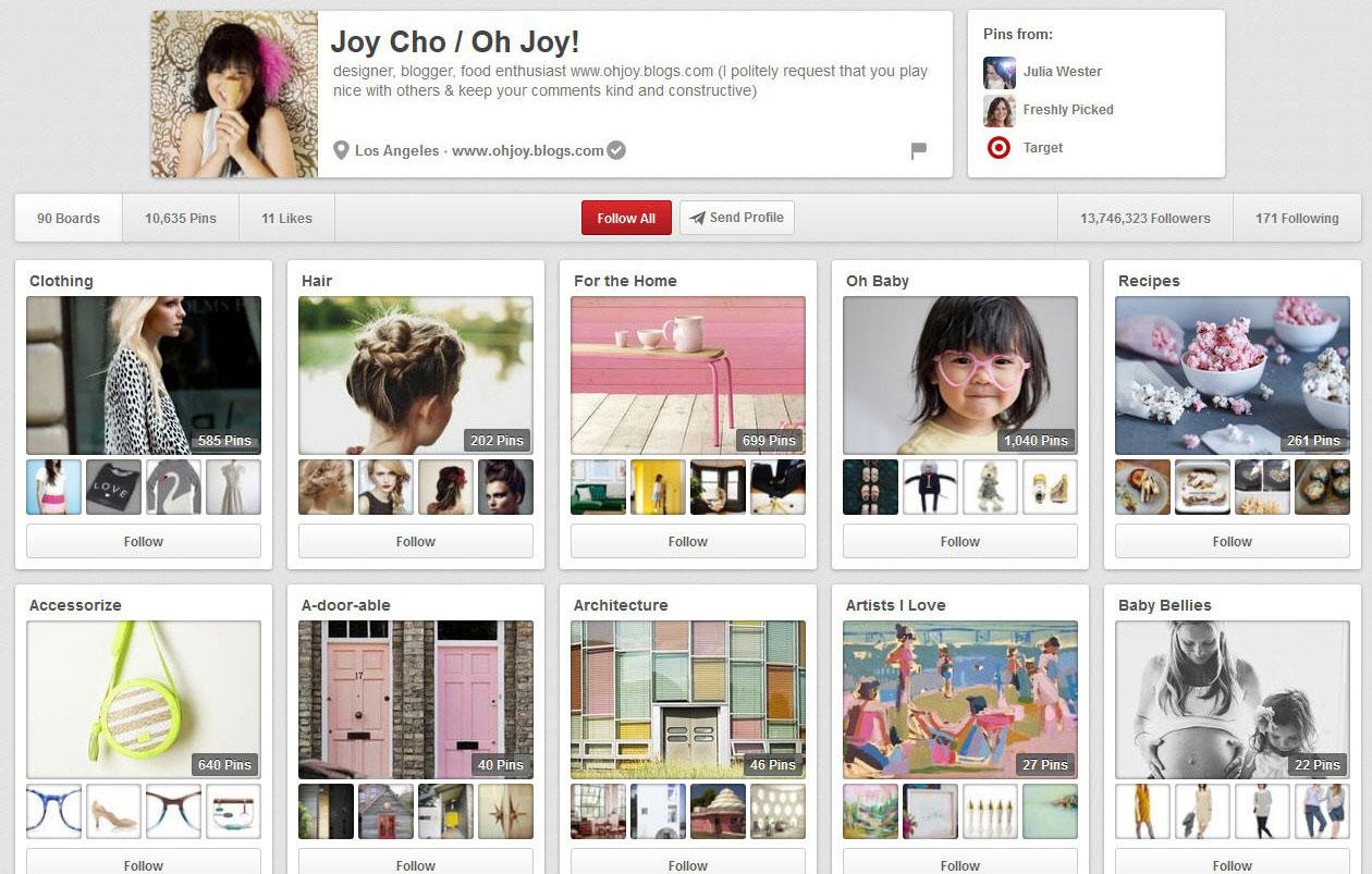 Pinterest Moms- Joy Cho of Oh Joy!