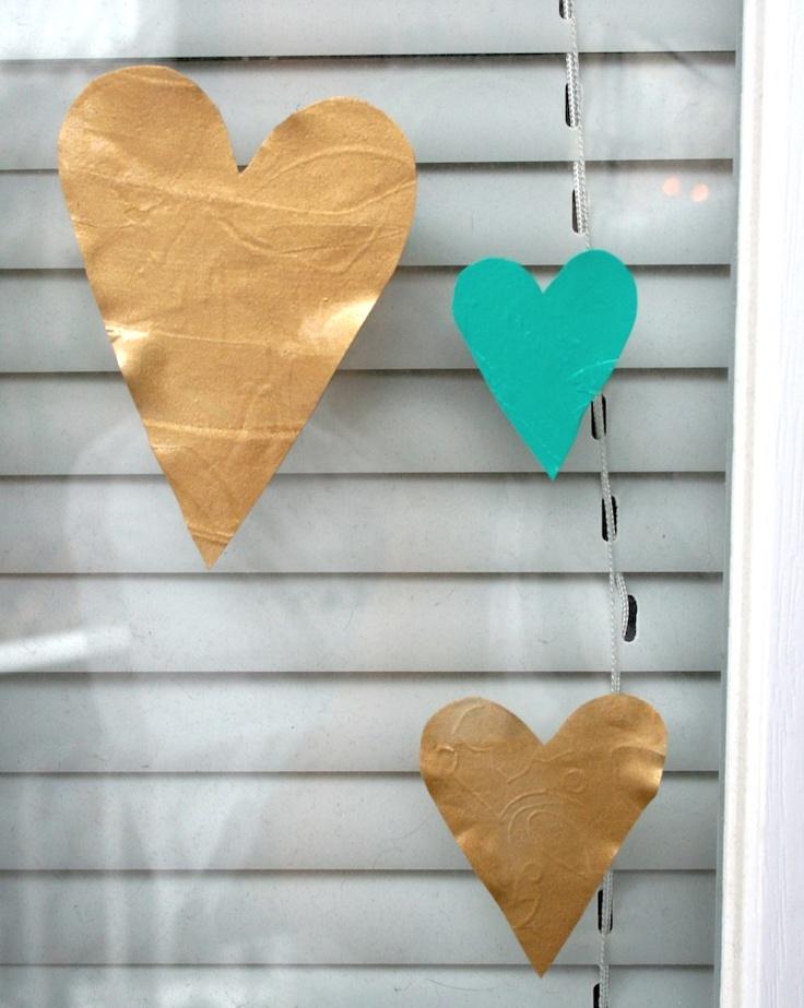 Heart glass clings