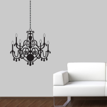 Etsy vinyl wall art- chandelier