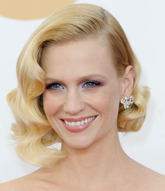 January Jones' 2013 Emmy Awards look