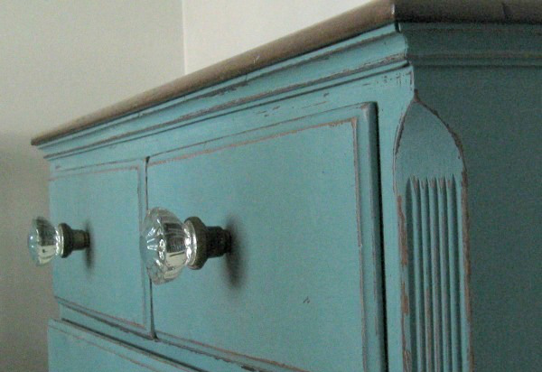 Dresser handles made out of door knobs