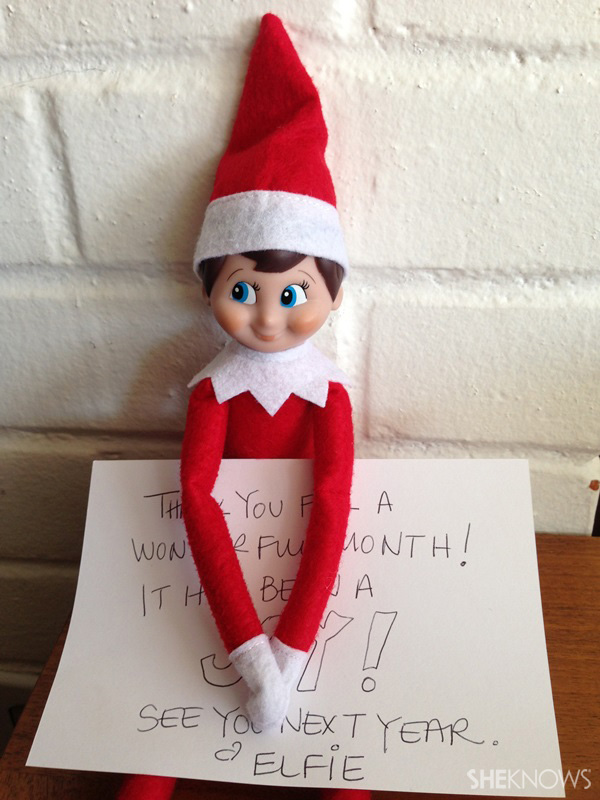 elf with note