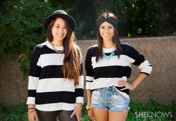 Fashion face-off: Two ways to style a striped sweater