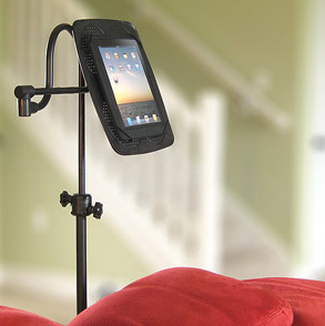 Hands-free, rotatable floor stand