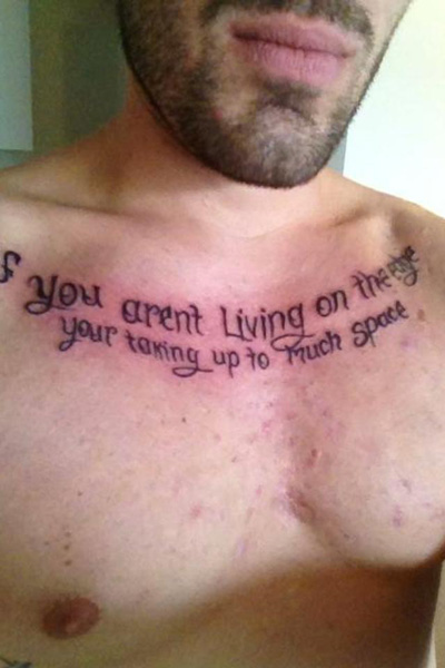 Tattoo with errors