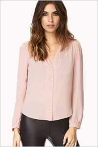 Dusty Rose Blouse (Forever 21, $20)