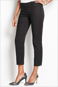 Tall Stretch Cotton Cropped Pants (Ann Taylor, $69)