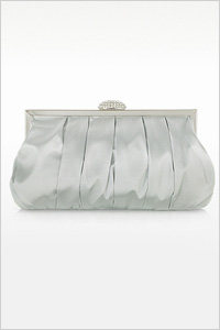 Julia Cocco Silver Mini Satin Clutch (Forzieri, $96)