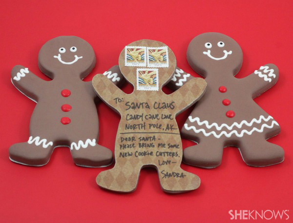How to make a gingerbread man post card | SheKnows.com