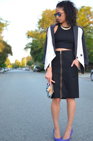 How to style a pencil skirt for date night