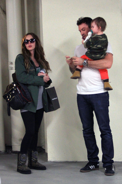 Pregnant Megan Fox, Brian Austin Green and son Noah