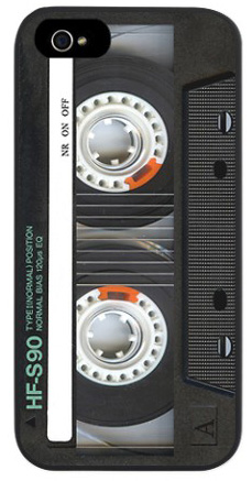 iPhone 5 cover that looks deceptively like a cassette tape