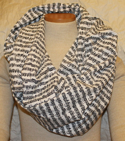 Music infinity scarf