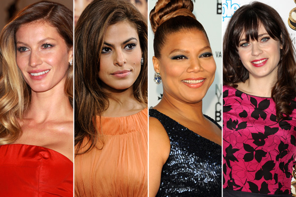 Gisele Bundchen, Eva Mendes, Queen Latifah, Zooey Deschanel