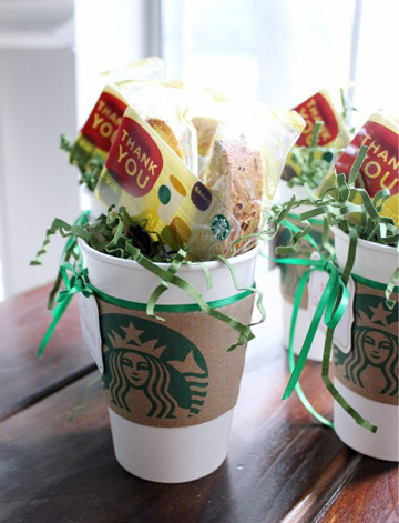 Starbucks gift card idea