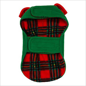 Petco Holiday Bone Reversible Cozy Dog Coat