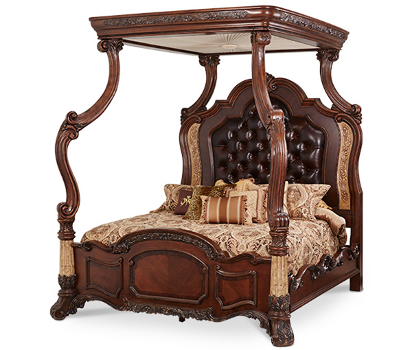 Ornate canopy bed