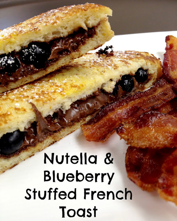 Nutella blueberry stuffed French toast