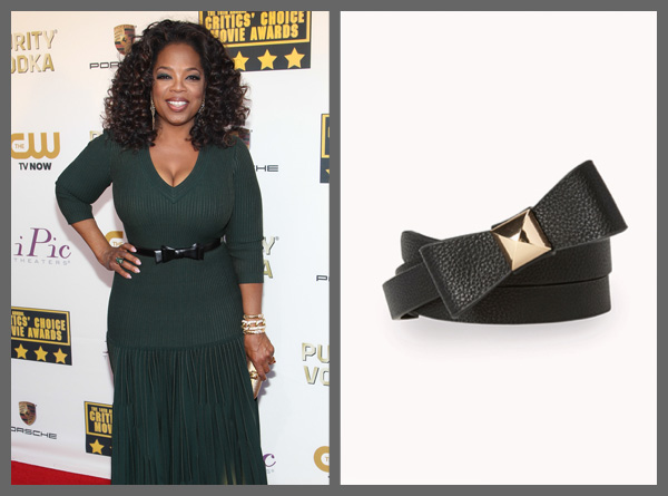 Oprah wearing a bow belt