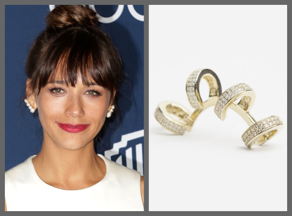 Rashida Jones wearing an ear cuff