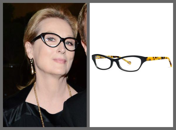 Meryl Streep wearing cat eye glasses