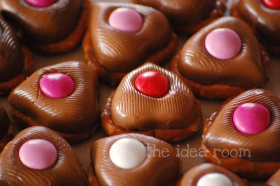 Pretzel and chocolates treats