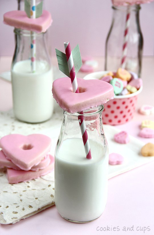Glass topper Valentines cookies