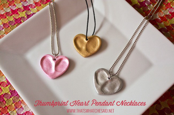 Valentine thumbprint hearts