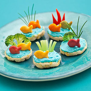 Healthy Aquarium Rice Cakes