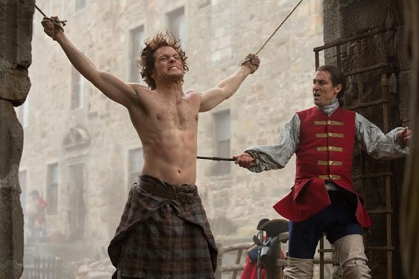 Jamie Fraser receiving Red Coat justice