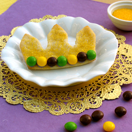 Crown Cookies with Skittles